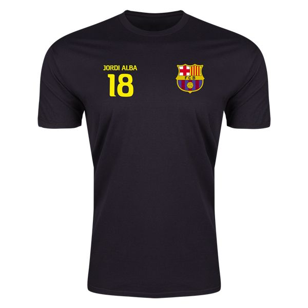 Alba FC Barcelona Right Chest Number T-Shirt