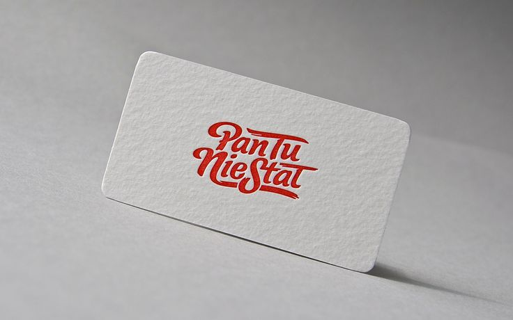 Business cards printed for polish vintage clothing brand. Interesting Typography. 100% cotton & hand made letterpress.