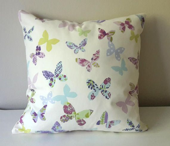 Butterfly Pillow, Nursary Cushion, Kids Pillow Case, Kids Pillow Case, Children's Pillow, Purple Pillow, Girls Throw Pillow, Baby Pillow,