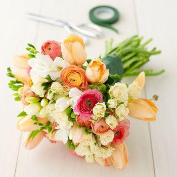 credit crunch bride - flowers