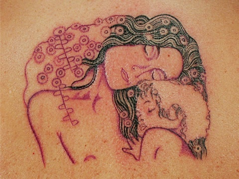Klimt tattoo variation of the three faces of women painting.