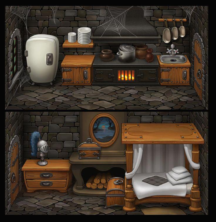 Rooms in the castle, Elena Kostrova on ArtStation at…