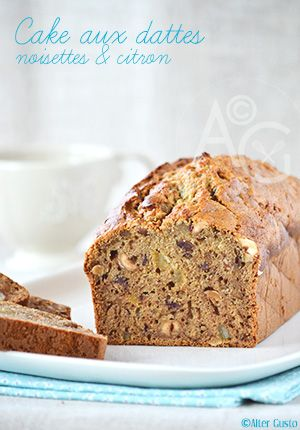 Alter Gusto | Cake aux dattes, noisettes & citron -