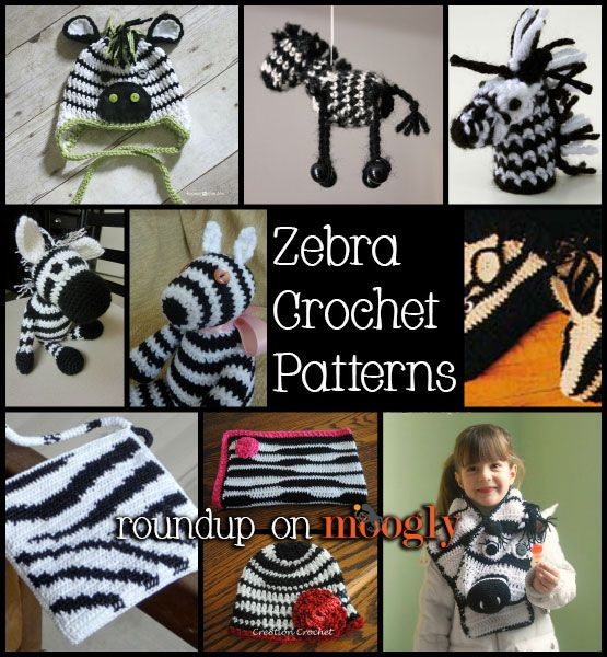 Free Zebra Crochet Patterns - roundup on Moogly!