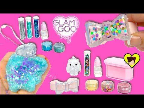 Decoramos Pulseras Y Collares De Confetti Slime Glam Goo Juguete De Slime Youtube Glam Juguetes Pulseras