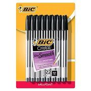 BIC® Cristal® Xtra Smooth Ballpoint Pens, 1.2mm, 22ct - Black