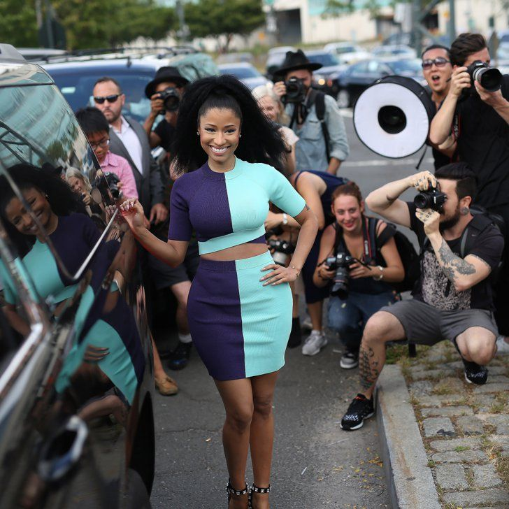 Pin for Later: All the Best Street Style From New York Fashion Week NYFW Street Style Day 3 Nicki Minaj was a showstopper in her colourblock two-piece.