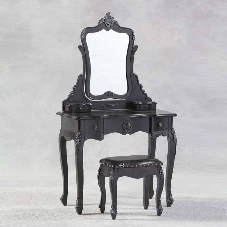 Antique Style Dressing Table and Stool | House of Ducentis | House Of Ducentis