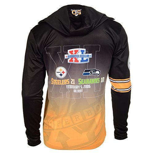 NFL Pittsburgh Steelers Super Bowl XL Champions Hoody Tee, Large