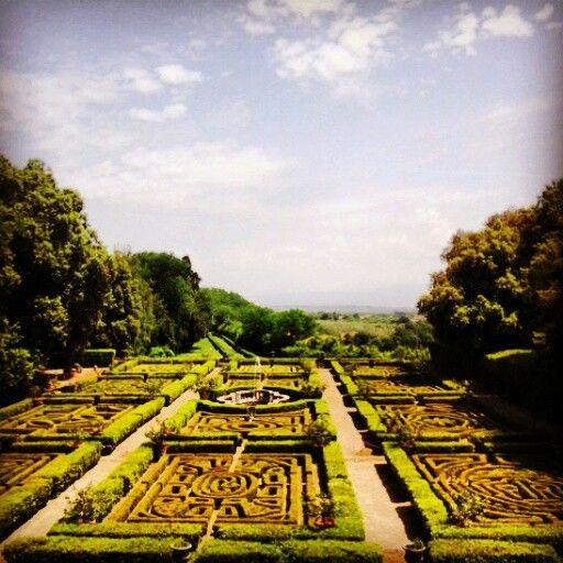 I giardini del Castello Ruspoli a Vignanello