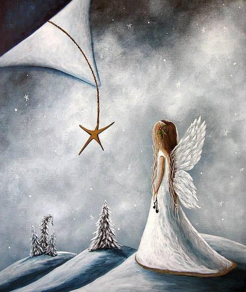 雪の世界に現れた天使。