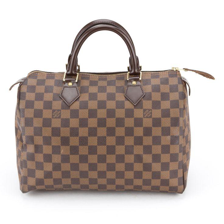 Louis Vuitton Damier Ebene Speedy 30 (Authentic Pre Owned)