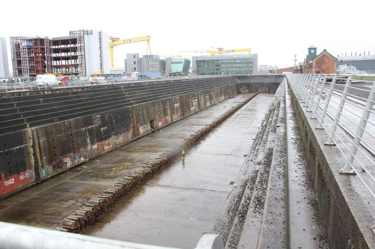 Belfast, titanic dock!