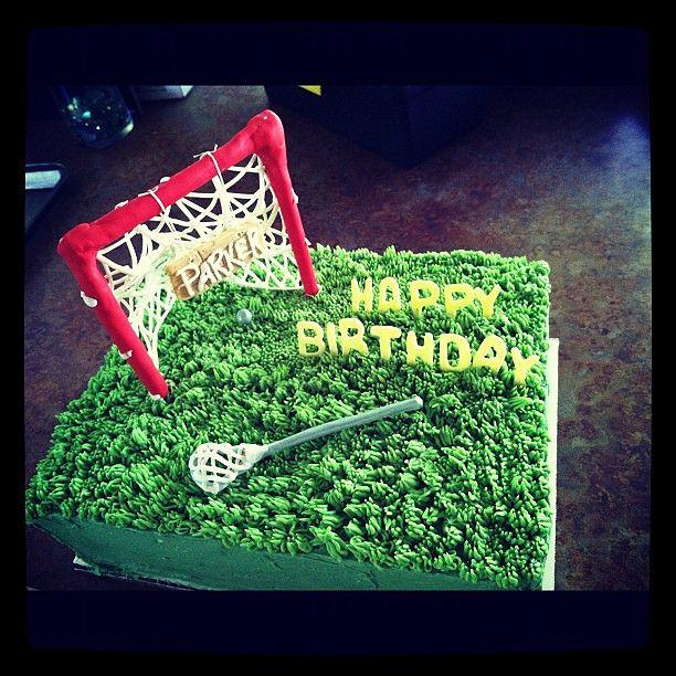 Lacrosse Birthday Cake cakepins.com