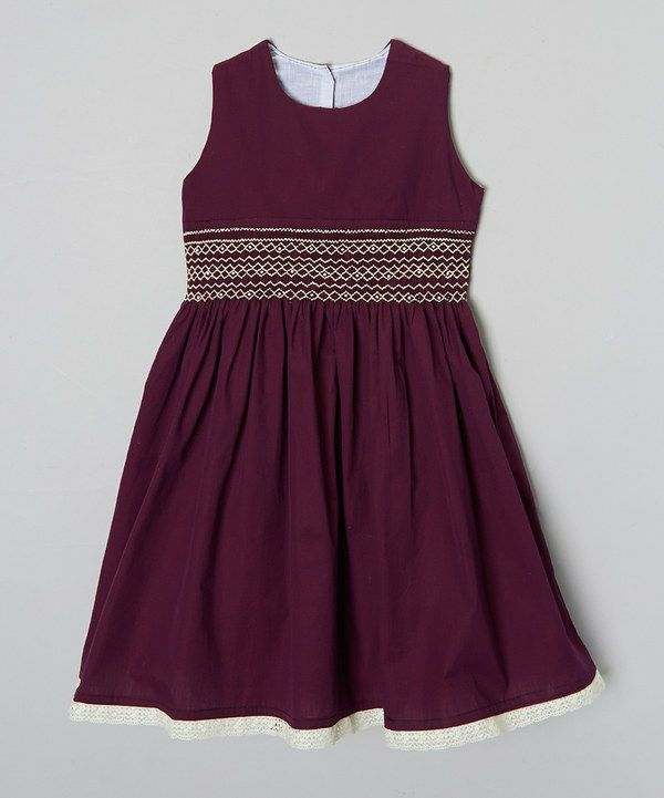 Look at this Maroon & Navy Night Out Dress - Infant, Toddler & Girls on #zulily today!