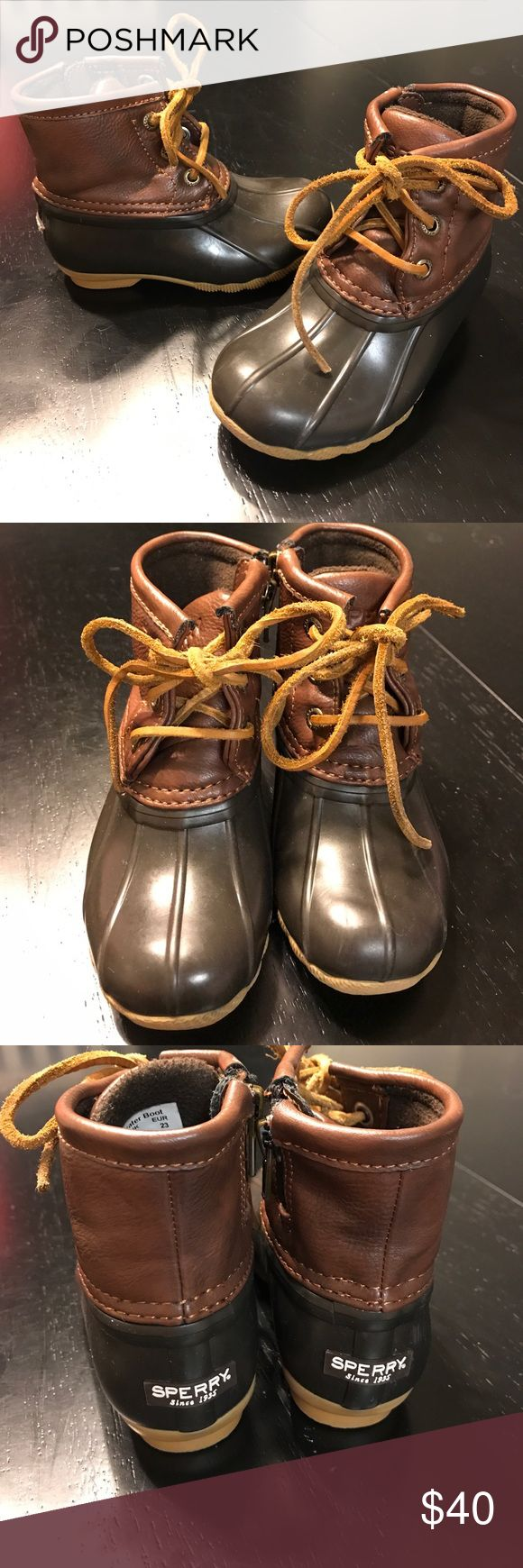 Toddler sperry saltwater duck boots ❤️ Sperry saltwater boot , in excellent condition size 7m Sperry Shoes Rain & Snow Boots
