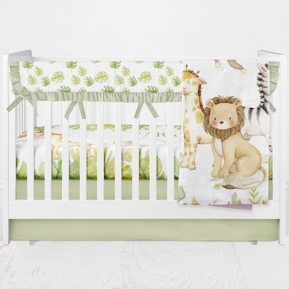 Safari Animal Crib Bedding Safari Nursery Room Safari Crib Etsy In 2020 Animal Crib Bedding Safari Nursery Room Animal Nursery Bedding