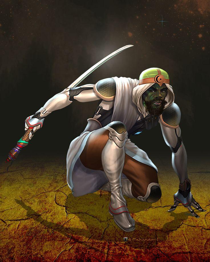African warrior http://www.deviantart.com/art/Jihad-AD-149779404