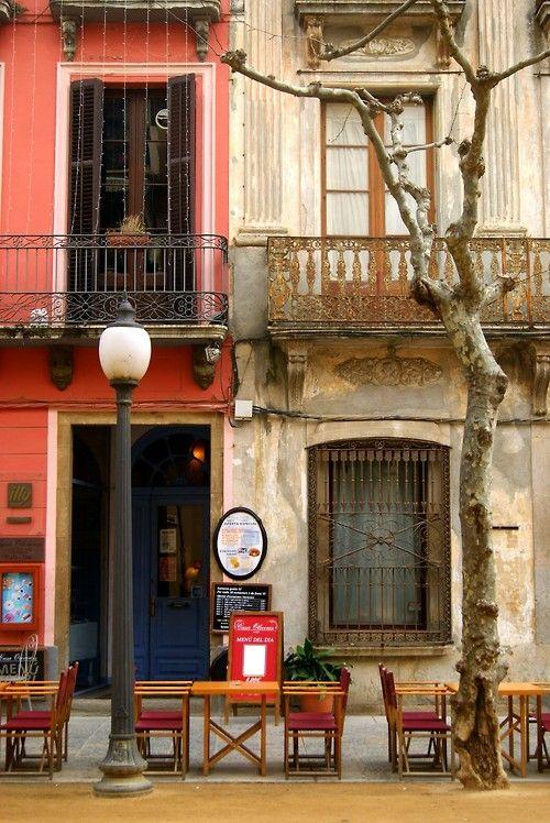 Sidewalk Cafe, Blanes, Girona, Spain  photo via baisali