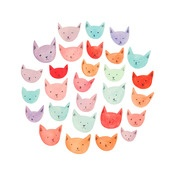 Image of CATS: Inexpensive Art, Cake, Illustration, Drawing Ideas, Crazy Cat, Cat Prints, Cat Lady
