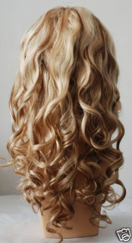 Blonde Highlights with Red Lowlights | white blonde hair with lowlights. FULL LACE BLONDE HUMAN HAIR