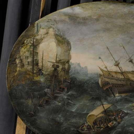 Schipbreuk op een rotsachtige kust, Adam Willaerts, 1614 - Rijksmuseum
