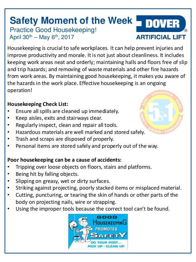Practice Good Housekeeping! Alberta Oil Tool's #Safety Moment of the Week 01-May-2017