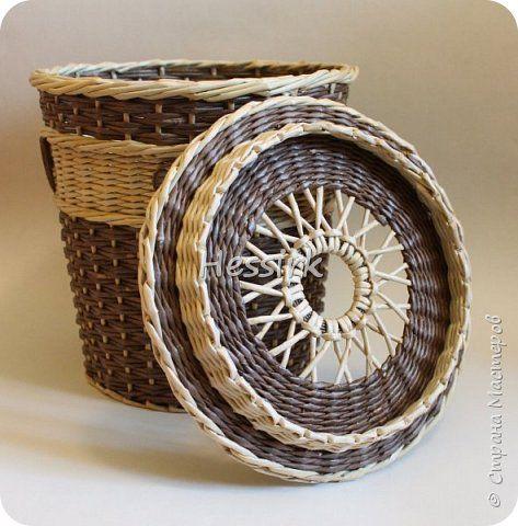 Поделка изделие Плетение Мая Трубочки бумажные фото 3