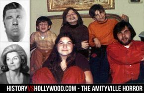 The Amityville Horror at History vs. Hollywood - The DeFeo family, including the six who were murdered and the killer Ronald DeFeo, Jr. Get the truth behind this horror movie at http://www.historyvshollywood.com/reelfaces/amityvillehorror1979.php