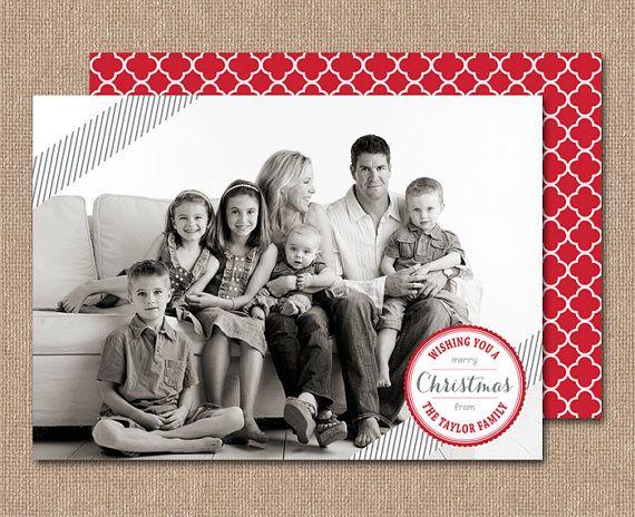 PHOTO CHRISTMAS Card  Digital or Printed  cc2 by kimberlyjdesign