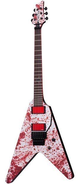 Schecter Gary Holt V-1 FR Blood Spatter Electric Guitar 232   Reverb