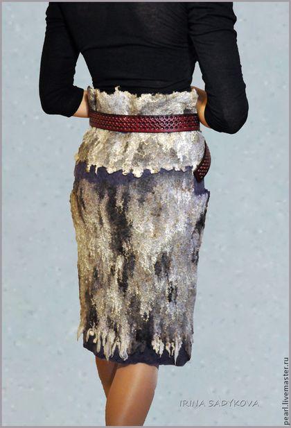 """Юбки ручной работы. Ярмарка Мастеров - ручная работа Юбка валяная """"Северное сияние"""". Handmade."""