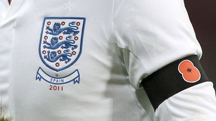 England and Scotland set to defy FIFA Ban  The Football Association vows to contest any fine imposed when players wear armbands adorned with poppies at a qualifier tonight - get your Poppy Brooch today www.poppybrooch.com #FashionJewelry #SterlingSilver #Rings #Bracelets #Earrings #SilverCharms #Brooches #NoseRings #BarBellsEarrings #Engagement Rings #Wedding Rings #Promise Rings #wedding 2016 #Wedding Rings