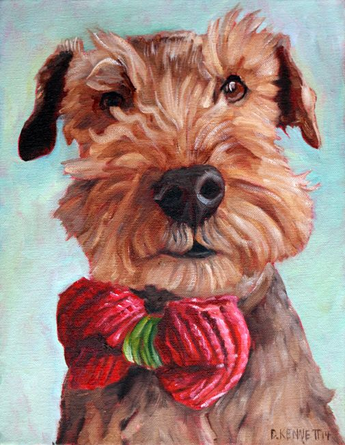 Archie the Welch Terrier. Another custom pet painting by David Kennett at www.bffpetpaintings.com