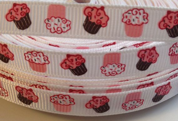 3/8 Cupcakes Ribbon 3 Yards by KutiePieKrafters on Etsy