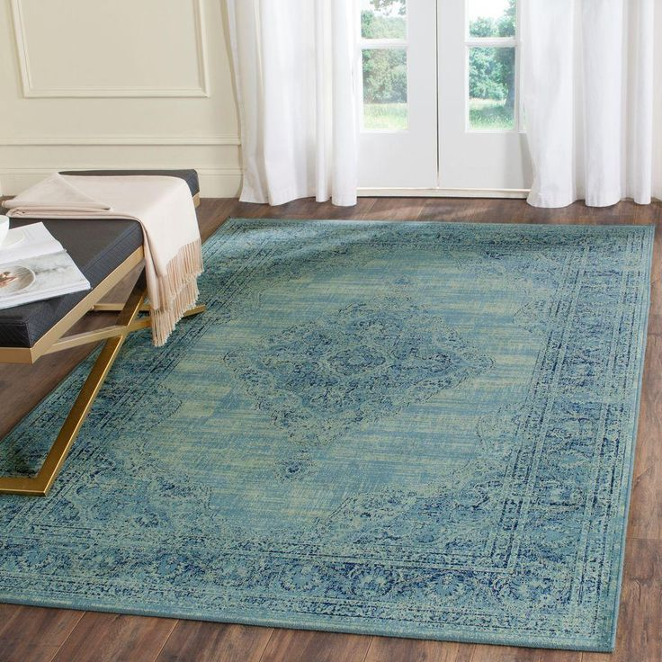 Safavieh Vintage Turquoise/Multi 7 ft. 6 in. x 10 ft. 6 in. Area Rug - VTG112-2220-810 - The Home Depot