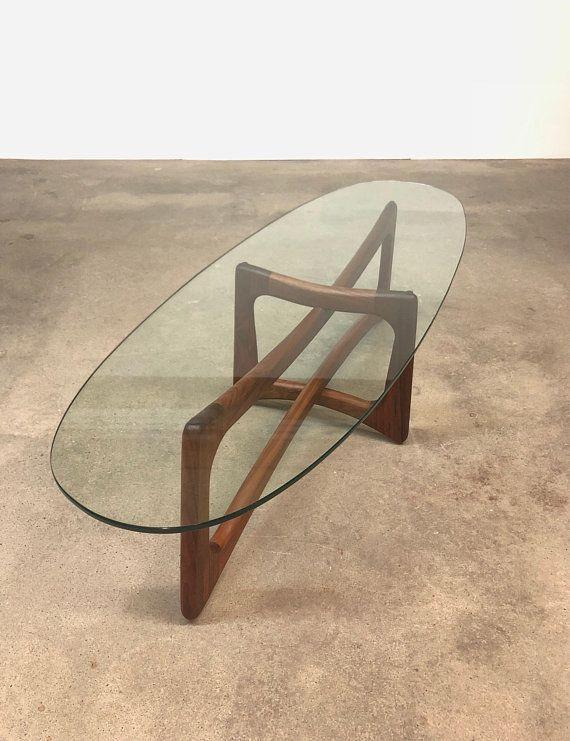 Adrian Pearsall Craft Associates Ribbon Walnut Coffee Table