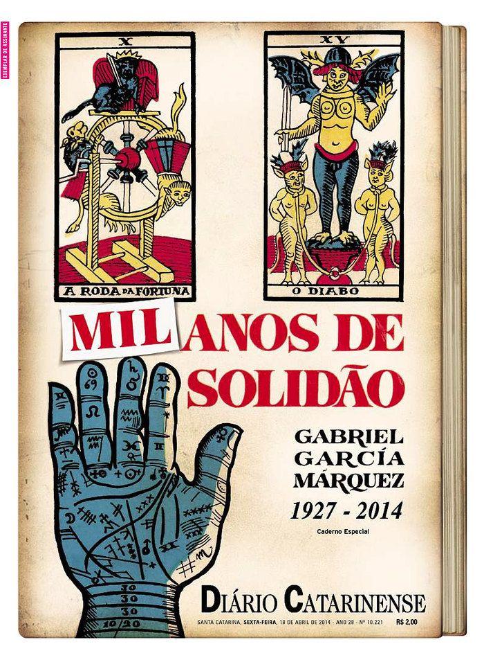 Newspapers remember Gabriel García Márquez - Diario Catarinense #newspaper #editorial #design
