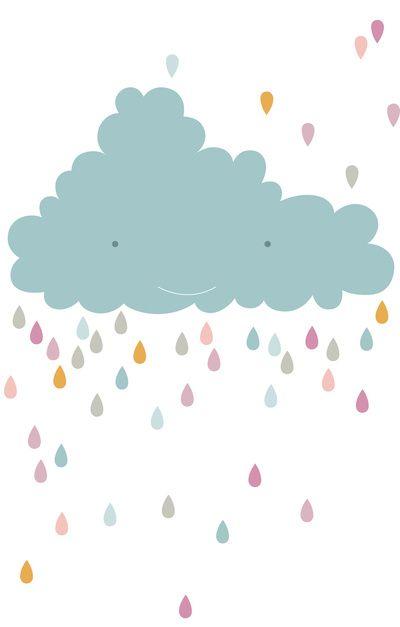 happy cloud Art Print | PinkNounou