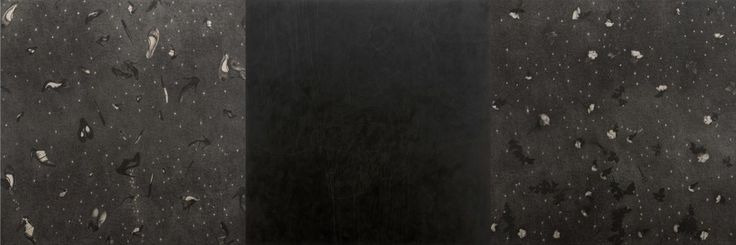 Omar Galliani La principessa Liu Ji, 2007 trittico, matita e tempera su tavola, cm 200x600