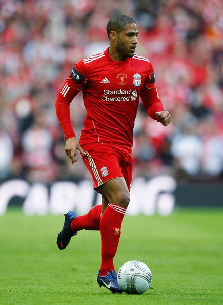 Glen Johnson of Liverpool in action during the Carling Cup Final match between Liverpool and Cardiff City at Wembley Stadium on February 26, 2012 in London, England.