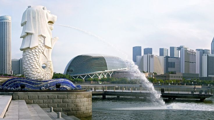 Merlion Park, Singapore.   Fun place to go for a holiday, I guess!