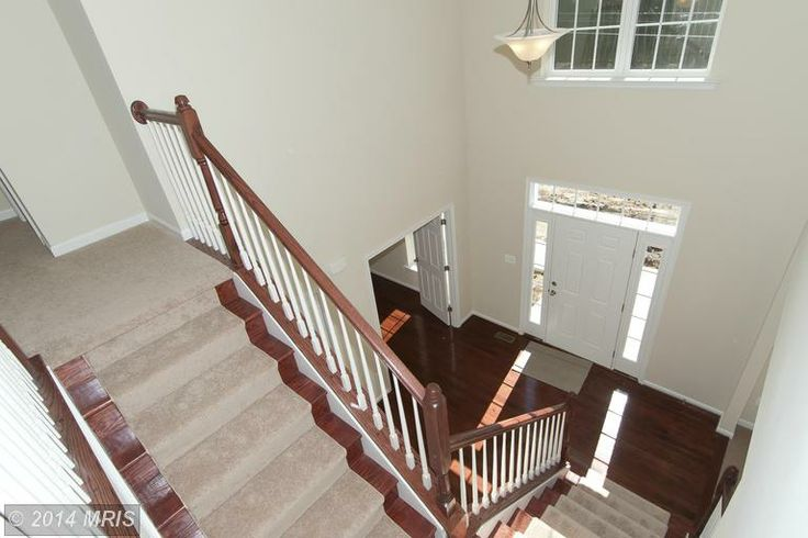 Stair carpeting transition from hardwood downstairs to for Hardwood floors upstairs