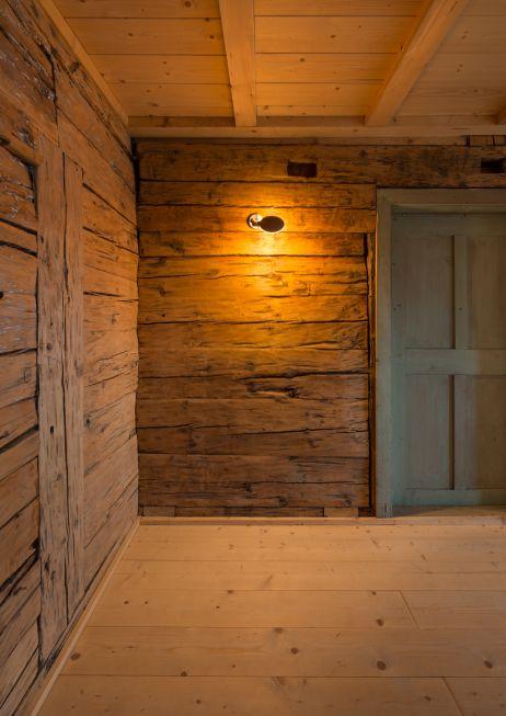 Bestehende Strickwand - Sanierung und Umbau eines Bauernhauses im Allgäu