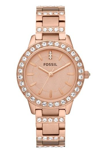 Yes, to this crystal encrusted rose gold watch.