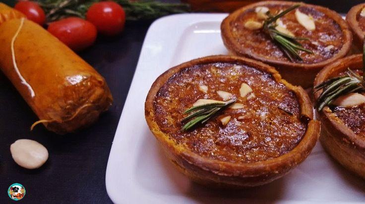 Estas tartaletas son una delicia culinaria, están hechas con un chorizo de mi tierra (Gran Canaria).    Un chorizo muy popular en las islas canarias, el chorizo de Terror, muy rico para untar en pan o tostadas.
