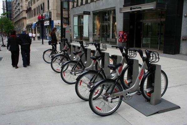 Bixi bikes, Montreal.