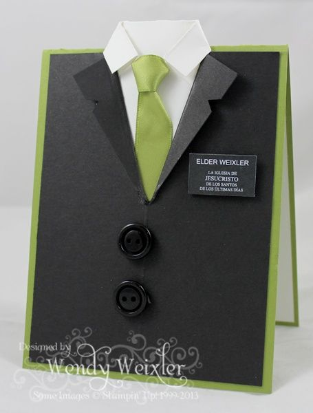 Shirt and tie card + link to tutorial
