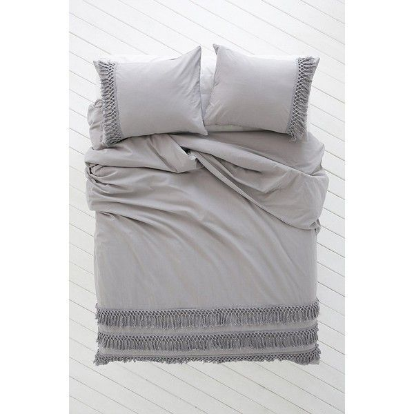 Magical Thinking Net Tassel Duvet Cover 129 Liked On Polyvore Featuring Home Bed Bath Bedding Duvet Covers Cotton Duvet Covers King Bed Linen Duvet