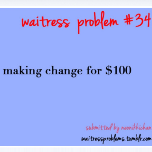 Waitress problems